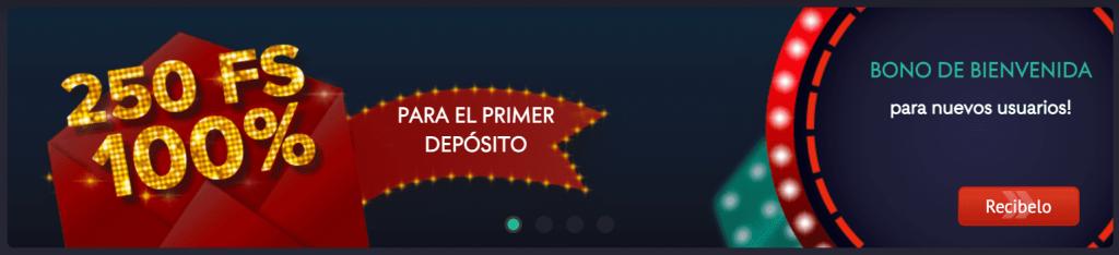 Pin Up Casino Perú - bono de bienvenida al registrarse